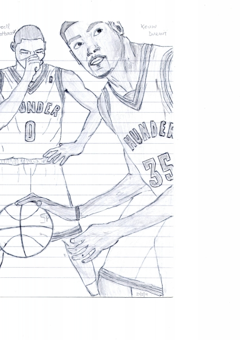 Kevin Durant, Russell Westbrook par PabloMiguel